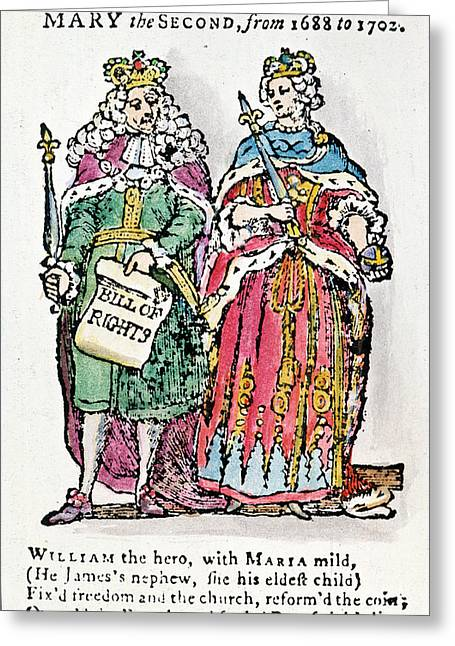 William IIi & Queen Mary Greeting Card