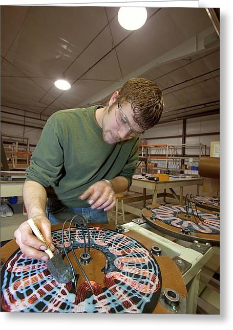 Wind Turbine Manufacturing Greeting Card