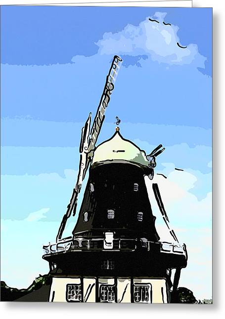 Windmill Greeting Card by Tommytechno Sweden