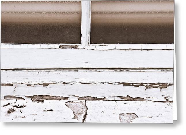Window Frame Greeting Card by Tom Gowanlock