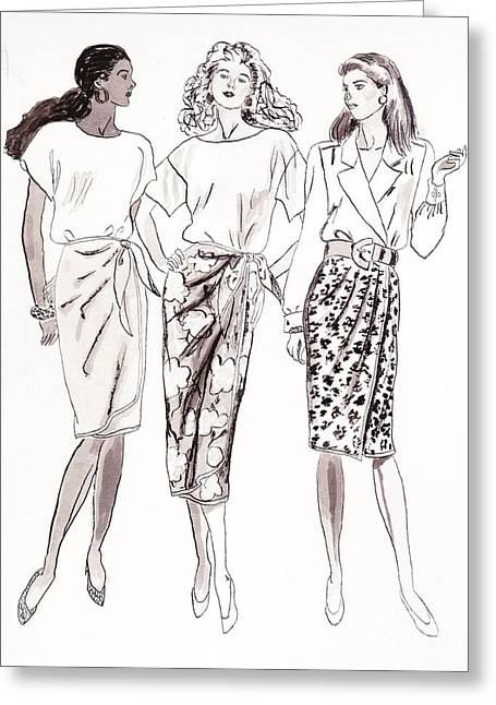 3 Woman Greeting Card