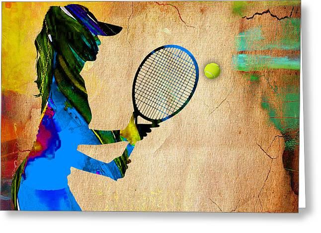 Womens Tennis Greeting Card
