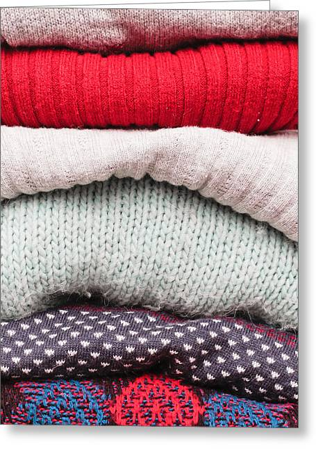 Wool Jumpers  Greeting Card by Tom Gowanlock