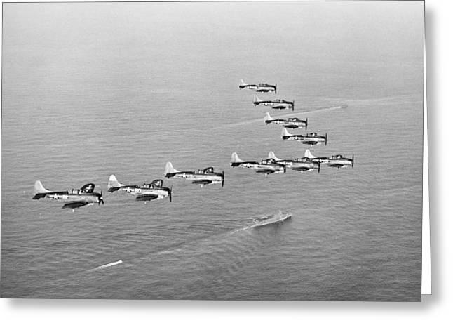 World War II: U.s. Bombers Greeting Card by Granger