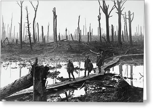 Wwi Passchendaele, 1917 Greeting Card by Granger