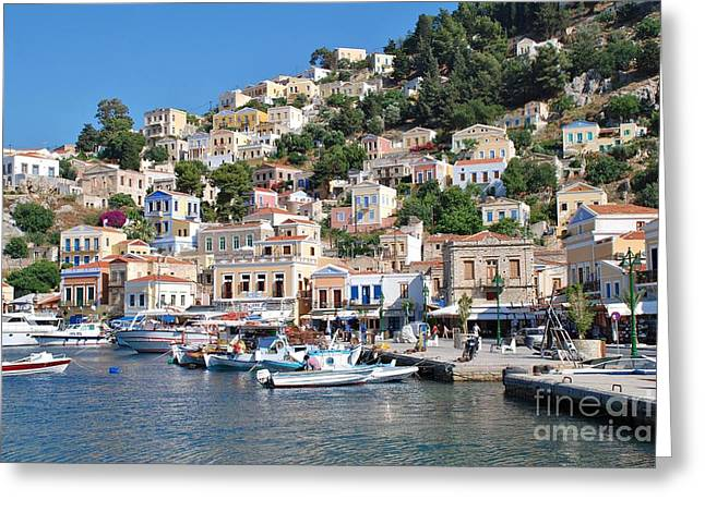 Yialos Harbour Symi Greeting Card