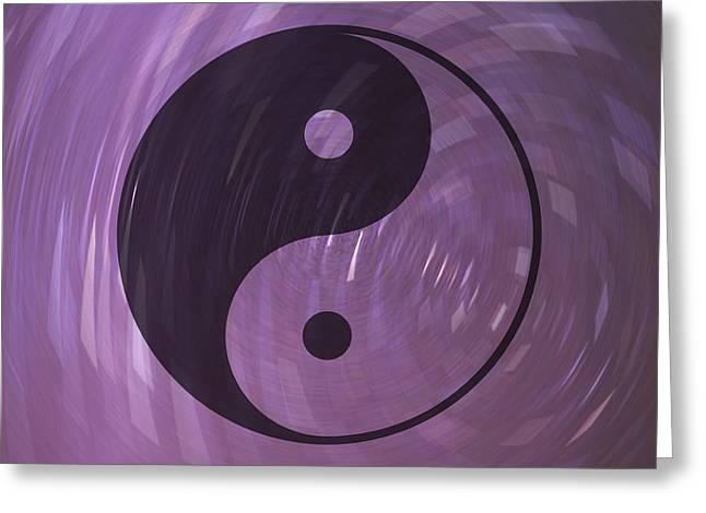 Yin And Yang Greeting Card by Daryl Macintyre