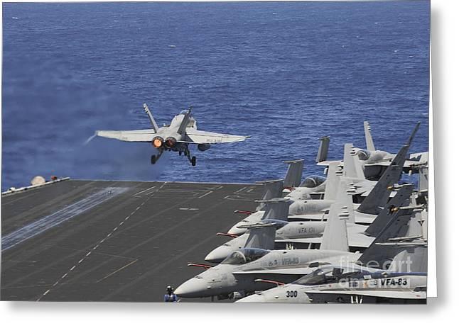 An Fa-18c Hornet Launches Greeting Card