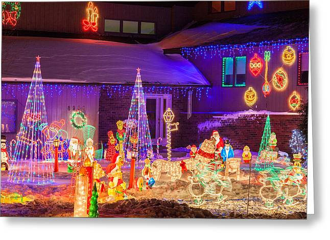 Christmas Lights Greeting Card by Le Phuoc