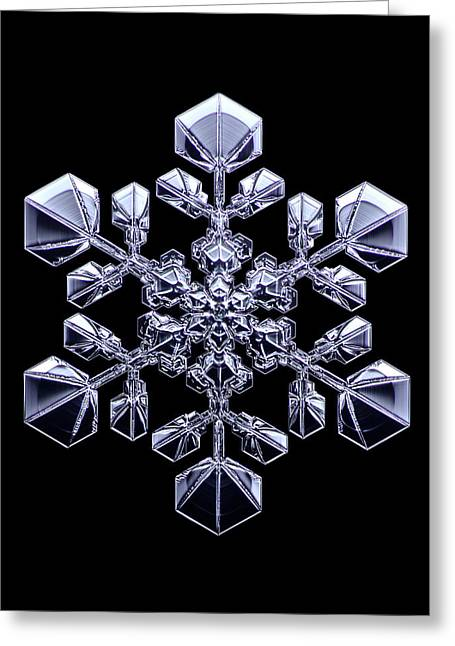 Snowflake Greeting Card by Kenneth Libbrecht