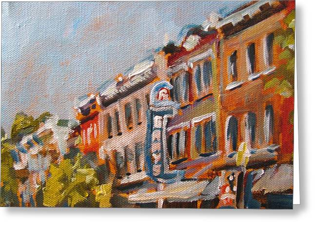 300n Block Franklin Greeting Card by Susan E Jones
