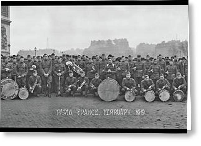 303rd Infantry Band, Paris, France Greeting Card