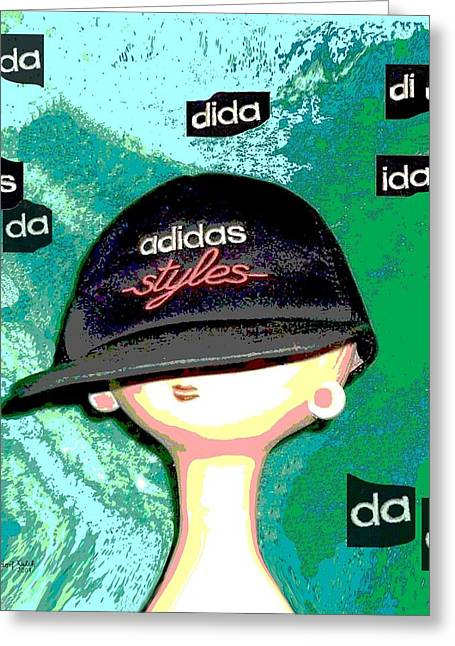 305 - Adidas Bubbles Greeting Card by Irmgard Schoendorf Welch
