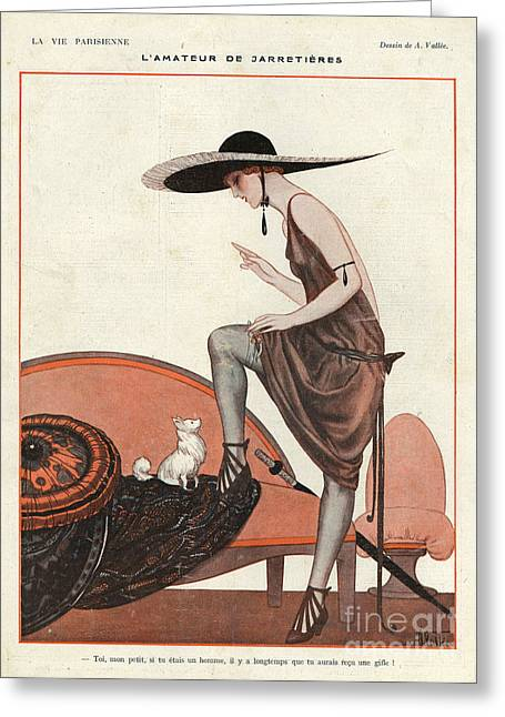La Vie Parisienne 1922 1920s France Greeting Card by The Advertising Archives