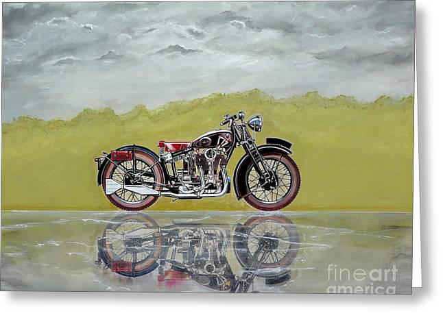 31 Matchless Silverhawk Greeting Card by John Lyes