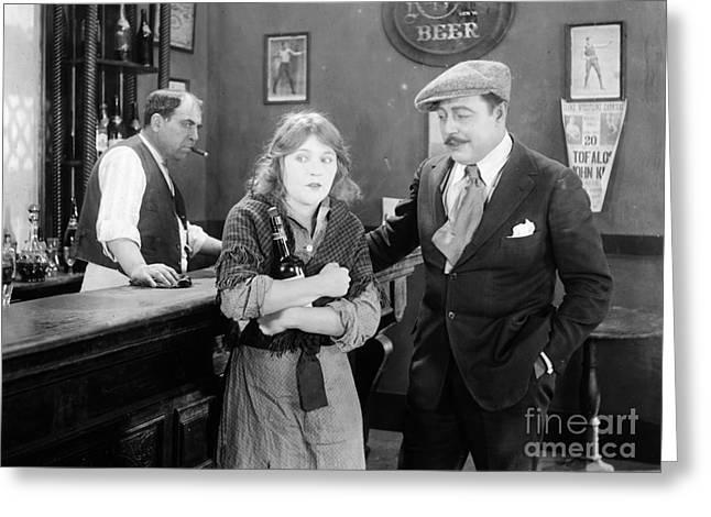 Silent Film Still: Drinking Greeting Card by Granger