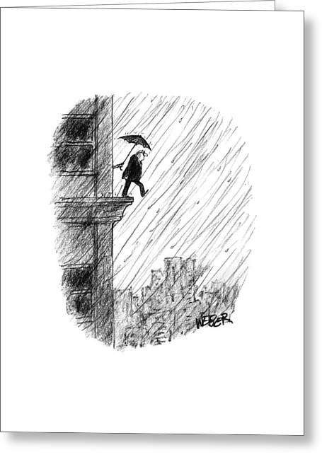 New Yorker May 22nd, 2000 Greeting Card by Robert Weber