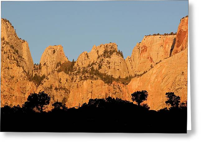 Usa, Utah, Zion National Park Greeting Card by Jaynes Gallery