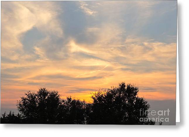 Sunset Greeting Card by Frank Conrad