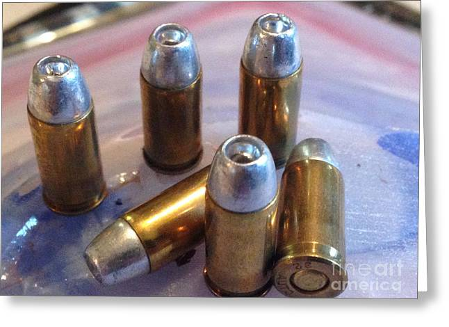 Bullet Art 32 Caliber Hollow Points 1c Greeting Card by Lesa Fine