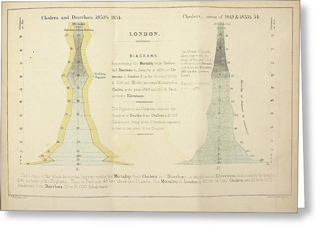 Cholera Epidemic Research Greeting Card by British Library