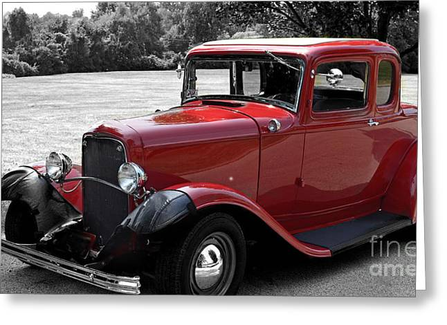 32 Ford Coupe Charmer Greeting Card