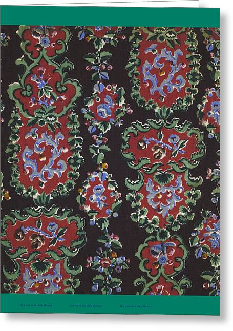 French Fabrics First Half Of The Nineteenth Century 1800 Greeting Card