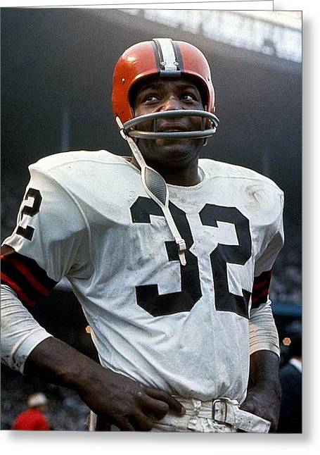 #32 Jim Brown Greeting Card