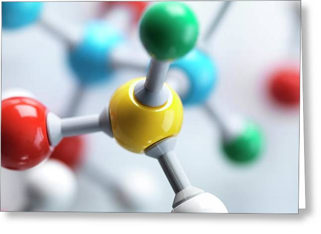 Molecular Model Greeting Card by Tek Image