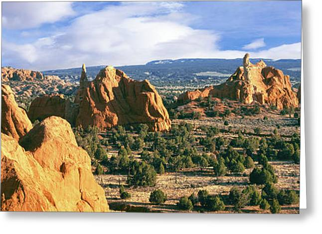 Rock Formations On A Landscape Greeting Card by Panoramic Images
