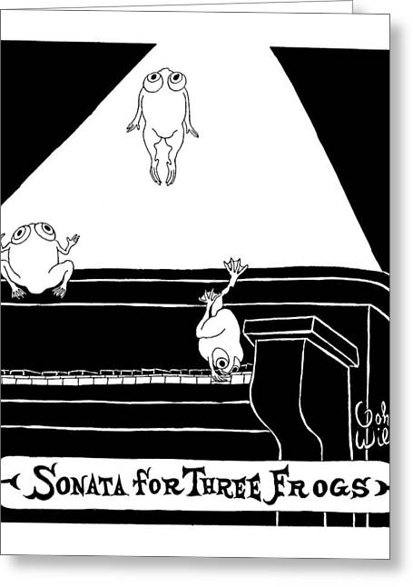 Sonata For Three Frogs Greeting Card