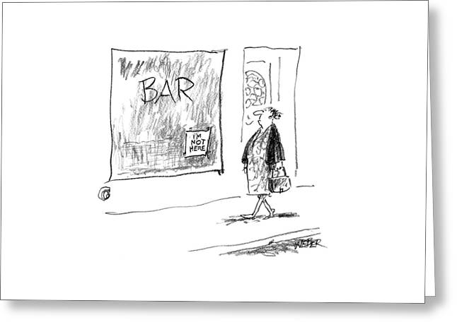 New Yorker November 29th, 2004 Greeting Card by Robert Weber
