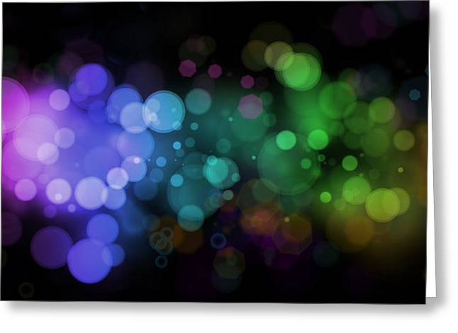 Colour In The Night Greeting Card