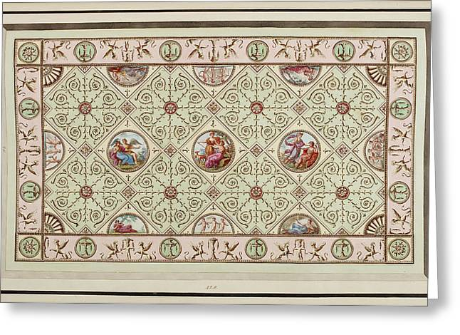 Antique Grotesque Ceilings Greeting Card