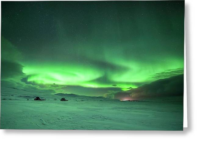Aurora Borealis Greeting Card by Tommy Eliassen