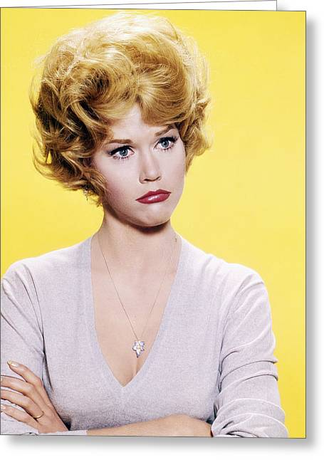 Jane Fonda Greeting Card by Silver Screen