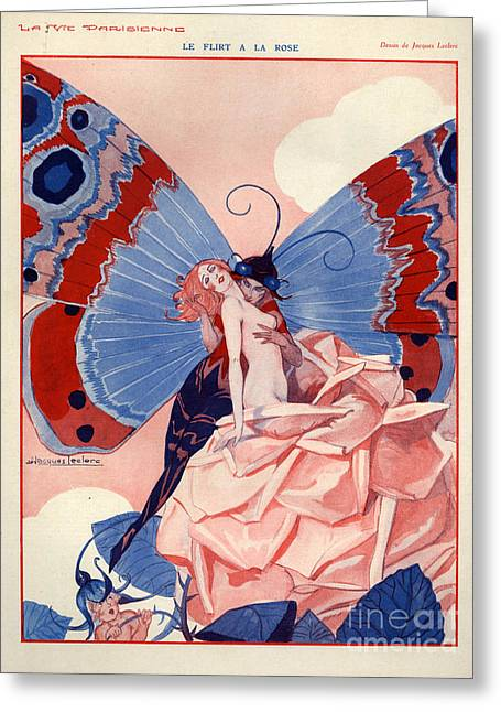 1920s France La Vie Parisienne Greeting Card