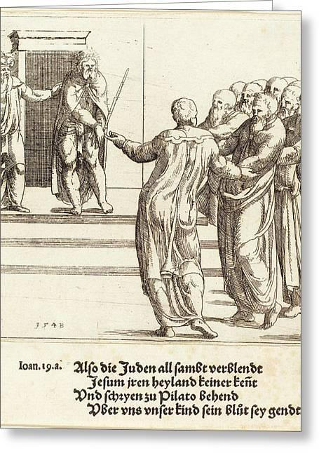 Augustin Hirschvogel German, 1503 - 1553 Greeting Card by Quint Lox