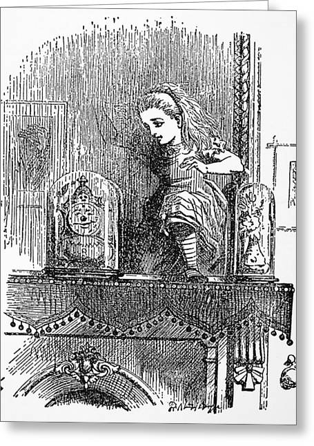 Carroll Looking Glass Greeting Card by Granger