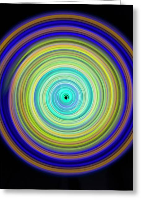 Multicoloured Light Trails Greeting Card by Lawrence Lawry