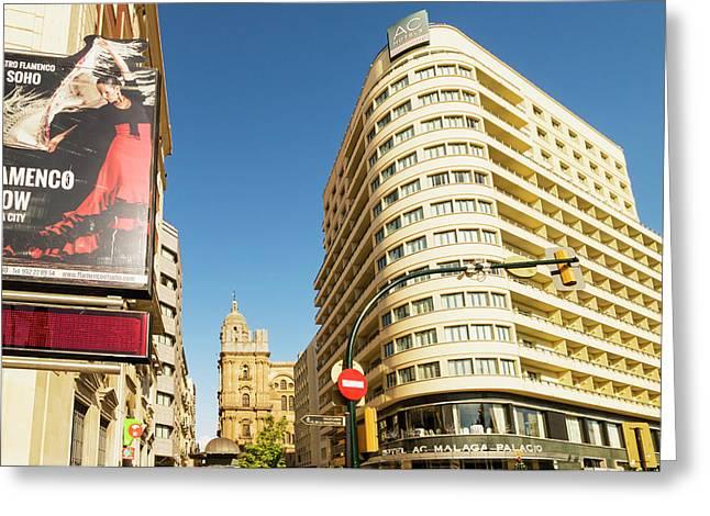 Malaga, Costa Del Sol, Spain Greeting Card by Ken Welsh