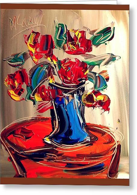 Roses Greeting Card by Mark Kazav