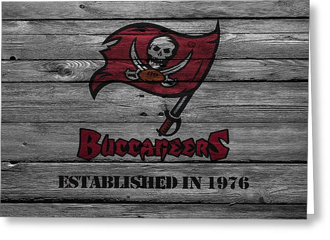 Tampa Bay Buccaneers Greeting Card by Joe Hamilton