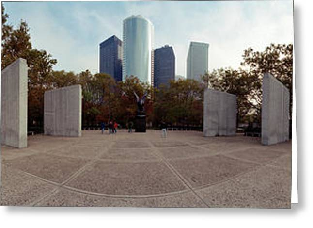 360 Degree View Of A War Memorial, East Greeting Card by Panoramic Images