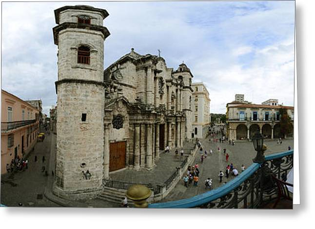 360 Degree View Of The Cathedral Greeting Card