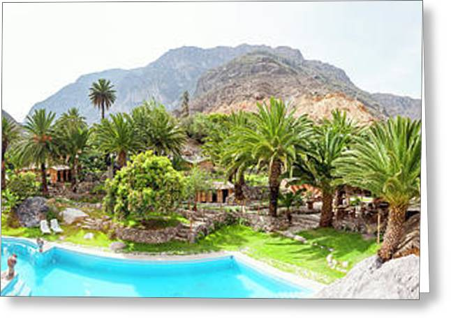360 Degree View Of The Oasis Greeting Card by Panoramic Images