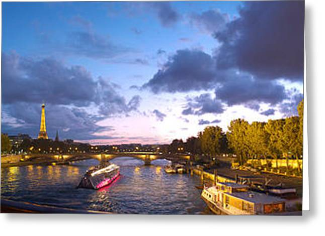 360 Degree View Of The Pont Alexandre Greeting Card by Panoramic Images