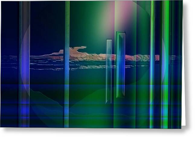 364 - Abstract Landscape 1 Greeting Card by Irmgard Schoendorf Welch