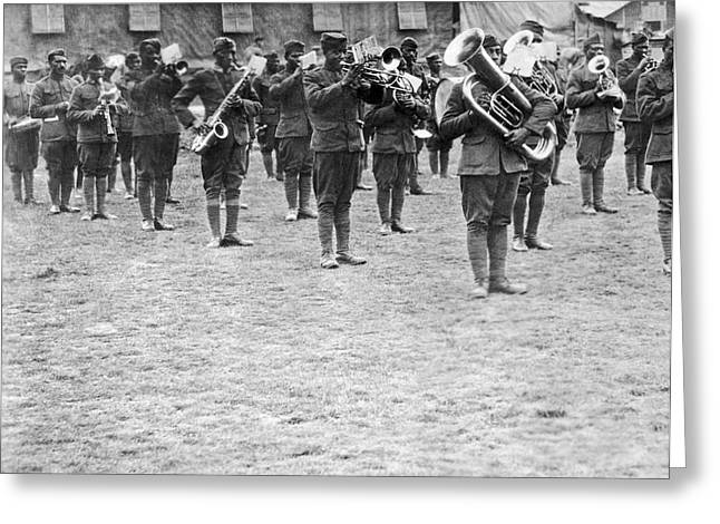 369th Infantry Regiment Band Greeting Card by Underwood Archives