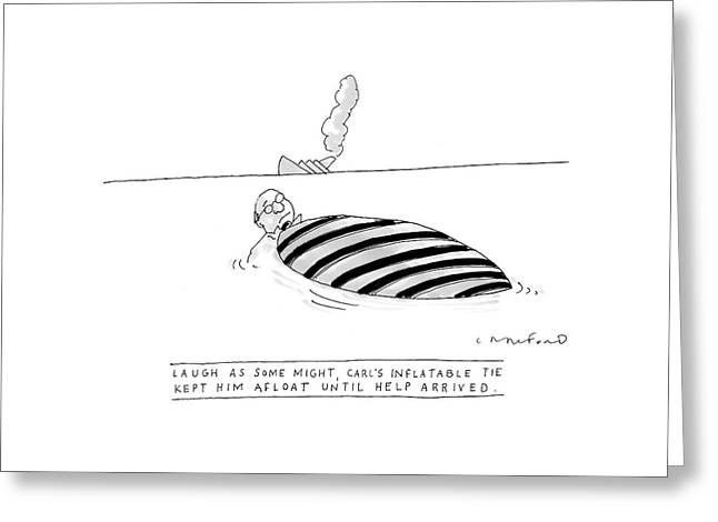 'laugh As Some Greeting Card by Michael Crawford